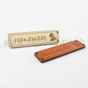 ป้ายไม้สี่เหลี่ยมHandmade 18958-5ชิ้น1