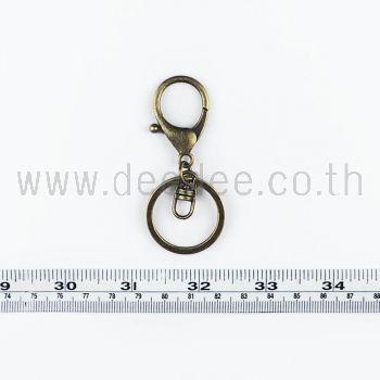 พวงกุญแจ MBK028 สีรมดำ 5ชิ้น